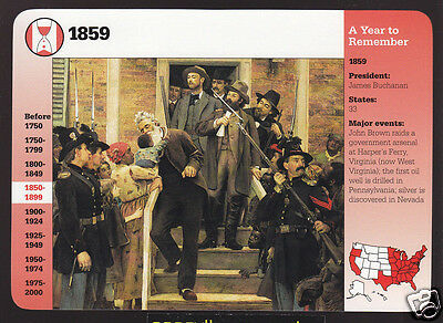 1859 THE LAST MOMENTS OF JOHN BROWN Raid on Harpers Ferry GROLIER STORY CARD