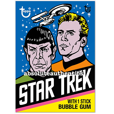 2018 TOPPS 80th ANNIVERSARY WRAPPER ART #25 STAR TREK 1976 SP LIMITED PRODUCTION