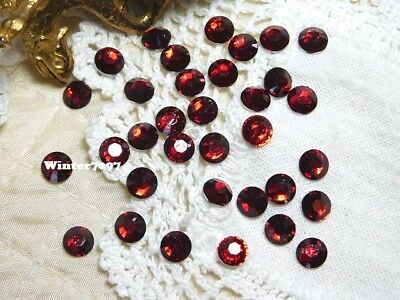(218)**costume Makers Sellout**flat Backed**round**rhinestones**red**new!**