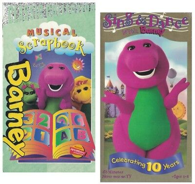 Sing And Dance With Barney Musical Scrapbook Lot Of 2 Vhs Tapes