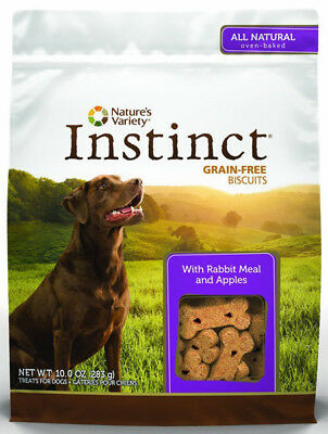 INSTINCT - Grain-Free Biscuits with Rabbit Meal & Apples Dog Treats - 10oz/283 g