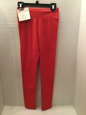LuLaRoe Tween Valentine Leggings ❤️ Red And Pink Stripes ❤️ FREE SHIPPING!! NWT