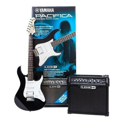 Yamaha Pa012Bl Spider Pack Kit Chitarra Amplificatore Corde Tracolla Plettri