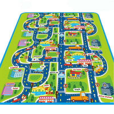 Kids Carpet Playmat Rug City Life Great For Playing With Cars and Toys City Mat