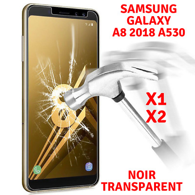 Lot/2 Film Ecran Vitre Protection Verre Trempé Glass Samsung Galaxy A8 2018