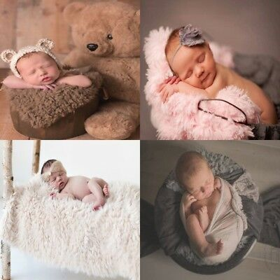 DIY Baby Photo Props Newborn Photography Soft Fur Quilt Photographic Blanket Hot
