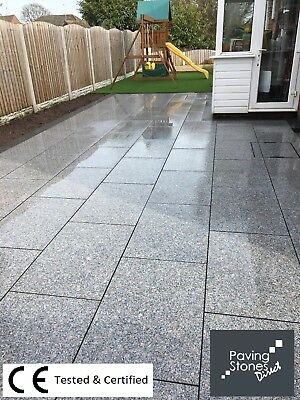 Premium Silver Grey Granite Paving Slabs  900x600 (33 Per Pack)  Paving Slabs