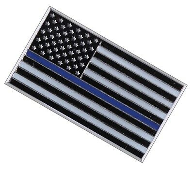 Law Enforcement Police Sheriff Lapel Pin Thin Blue Line on the USA Flag