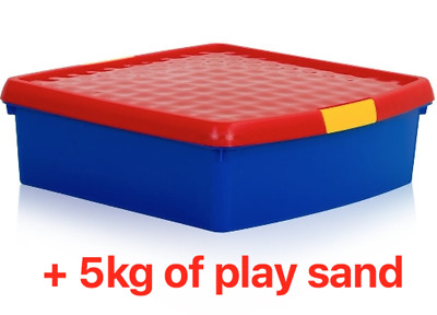 Sand Tray/Small Portable Sand Pit + 5kg Play Sand - Indoor/Outdoor Toy