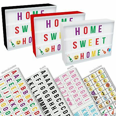 A4 Cinema Light Up Box LED Message Display Letter Number Party Shop Wedding Gift