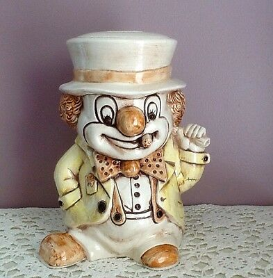 Hobo Treasure Craft Cookie Jar 1950's Vintage