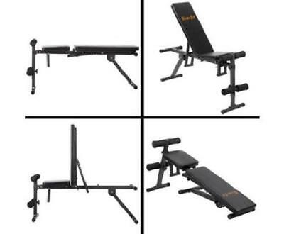 Fitness Exercise Workout Gym Training Equipment Flat Incline Adjustable Bench