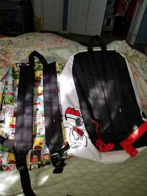 van's snoopy collectible backpack lot of 2