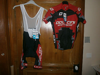 Maillot+Cuissard  Rouge  Xs  Doltcini  Neuf