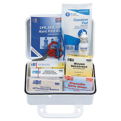 10 Person Ansi Plus First Aid Kits, Weatherproof Plastic, Wall Mount