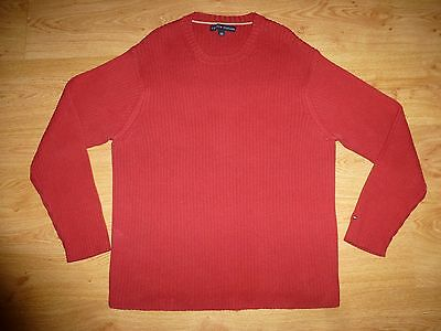 TOMMY HILFIGER red t-shirt uk mens size 2xlt red ref box 56