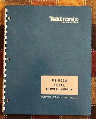 *** L@@K *** INSTRUCTION MANUAL for Tektronix  PS503A Dual Power Supply