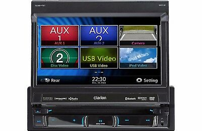 "Clarion NZ503 In-Dash, 7"" Flip-Out DVD/Navigation/ GPS Rcvr w/ Bluetooth NZ503#R"