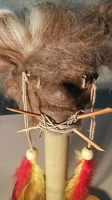 SHRUNKEN HEAD 4d REAL SKIN/HAIR W/STAND