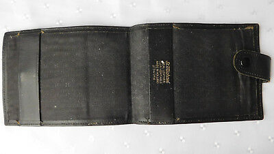 Vintage real leather cheque book holder M&S folding wallet pension book wallet