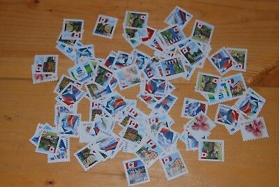 Weeda Canada Lot of 100 x 'P's uncancelled off paper, $85.00 face value postage