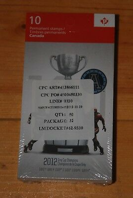 Weeda Canada 2598a, BK516 VF MNH sealed pack of 50, CFL Grey Cup issue CV $850+