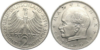 GERMANY (West): 1958 D 2 Mark #WC69263