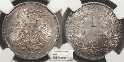 GERMANY Wilhelm I 1875-H Mark NGC MS-62