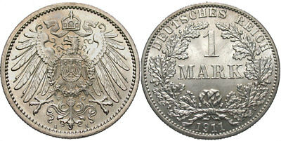 GERMANY: 1911 A 1 Mark #WC69640