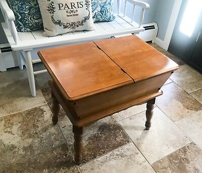 MAKE OFFER Quality Vintage Antique Dough Box Mid Century Modern End Coffee Table