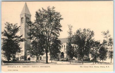 ITHACA, New York  NY   CORNELL UNIVERSITY LIBRARY  c1900s UDB  Tuck Postcard