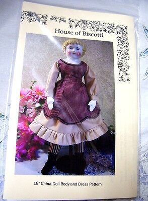 """18"""" China Doll PATTERN for Dress and Body"""