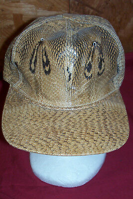 Real Cobra Skin Cap Hat Snakeskin Snake Indian Spectacled King Reptile Clothing