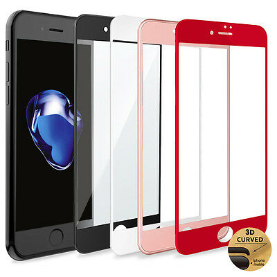 3D Full Coverage Tempered Glass Screen Protector for Apple iPhone 6 8 7 Plus