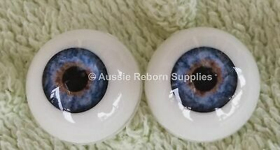 24mm Sea Blue Round Acrylic Eyes Reborn Baby Doll Making Supplies Toddler
