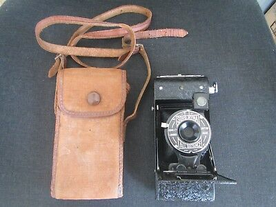 Collectible Vintage 30's Soho Myna All Distance Folding Camera (original case)