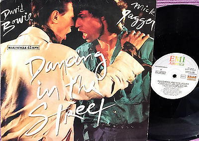 David Bowie & Mick Jagger  - Maxi Lp  Dancing In The Street - Spain 1985