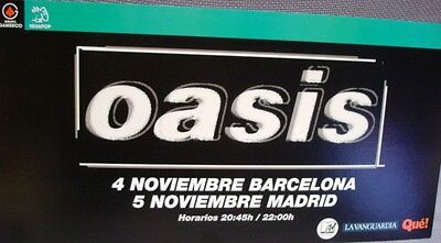 Oasis Cardboard Promo Poster Concerts 2005 Not Available In Stores!