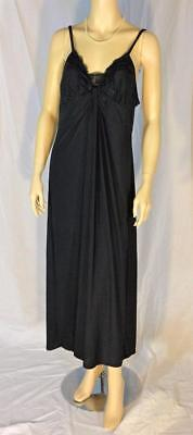 Ambrielle black padded bust gown nightgown size XL extra large adjustable straps