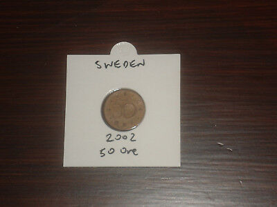 2002 Sweden 50 Ore coin Swedish fifty ores