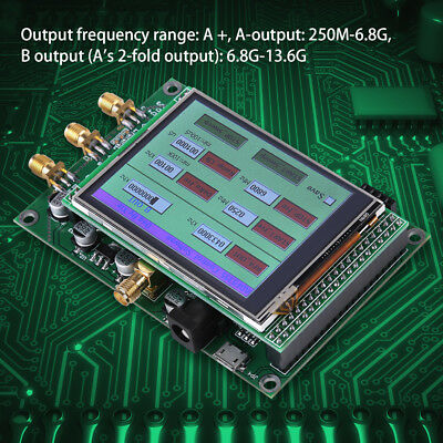 ADF5355 Touch Screen Modul VCO Mikrowellen Frequency RF Signalquelle Generator