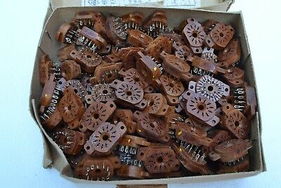 100 Sockets for IN-12 IN-15 IV-22 nixie tubes USSR NOS NEW NEU PL31A-P