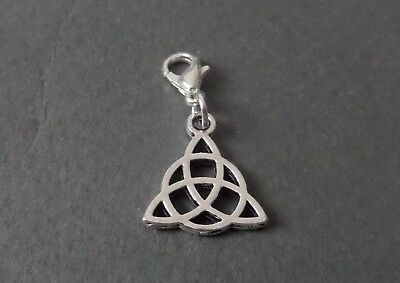 Single Clip On Charm – Witch Bracelet Wicca Jewellery Pagan Silver Witchcraft