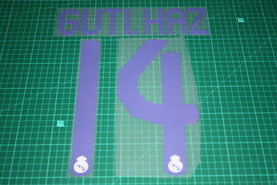Real Madrid 07/08 #14 GUTI. HAZ Homekit Nameset Printing