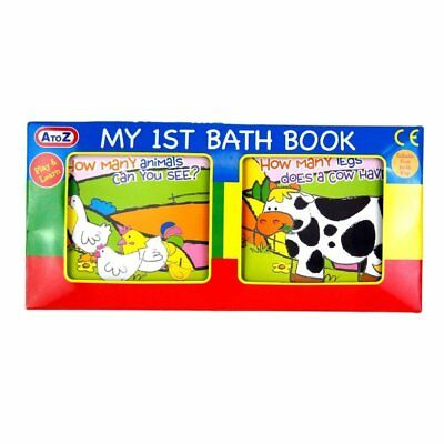 A to Z Baby My First Bath Book Animals Play and Learn