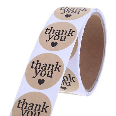 """THANK YOU"" DIY Round Adhesive Decorative Roll Card Sticker Circle Paper Label"