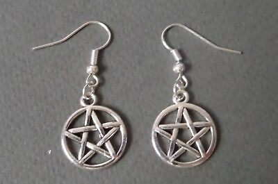 Pair of Charm Earrings Witch Wicca Jewellery Witchcraft Silver Pagan