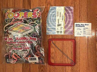 Jumbo 16 Oz. Loopers w/WNC Deluxe Metal Handweaving Loom & Hook + Instructions