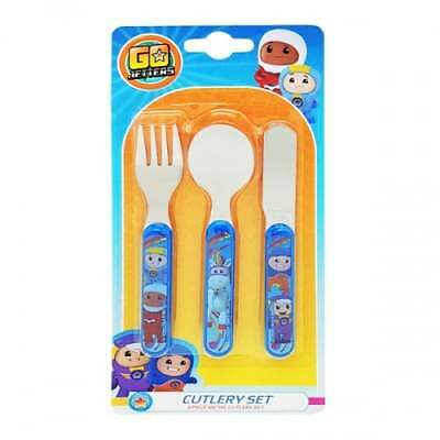 Go Jetters OFFICIAL 3 Piece 3PC Cutlery - Fork Spoon & Knife Childrens Set
