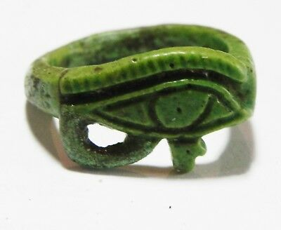 Zurqieh - As4616- Ancient Egypt, Faience Ring. Eye Of Horus . 1300 B.c